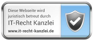 This website is legally supported by IT-Recht Kanzlei.